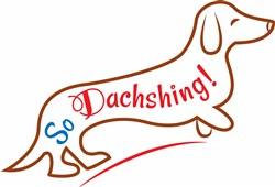 Dachshund So Dachshing print art