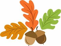 Fall Acorn Leaves print art