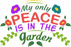 Peace Is In The Garden print art