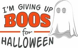 Boos For Halloween print art
