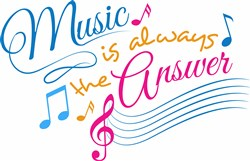 Music Is Always The Answer print art