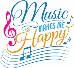 Music Makes Me Happy print art