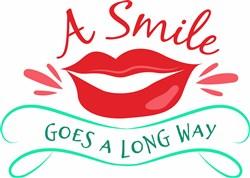Smile Goes A Long Way print art
