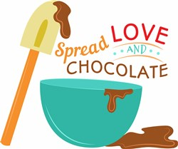 Spread Love & Chocolate print art