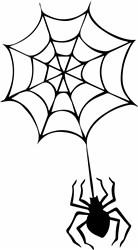Halloween Spider & Web print art