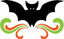 Halloween Bat & Swirls print art