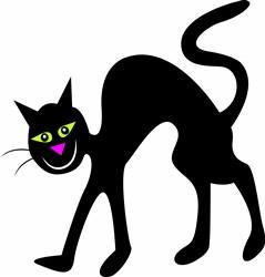 Halloween Black Cat print art