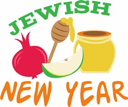 Jewish New Year print art