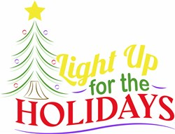 Light Up The Holidays print art