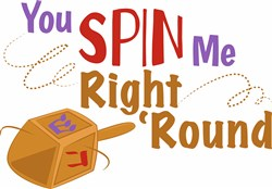 Spin Me Right Round print art