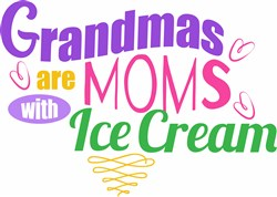Moms With Ice Cream print art