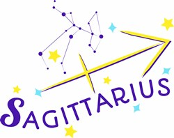 Sagittarius print art