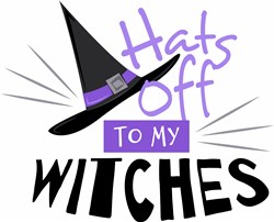 Hats Off Witches print art