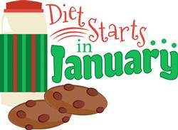 Diet Starts In January print art