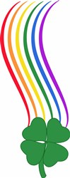 Rainbow & Shamrock print art