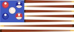 Billiards American Flag print art