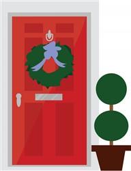 Christmas Door print art