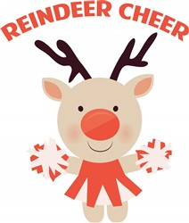 Reindeer Cheer print art