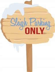 Sleigh Parking print art