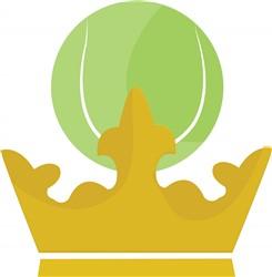 Tennis Crown print art