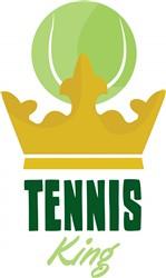 Tennis King print art