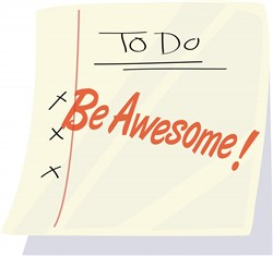 Be Awesome print art