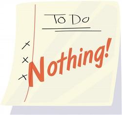 Do Nothing print art