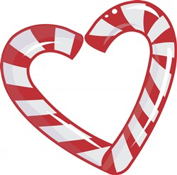 Candy Cane Heart print art
