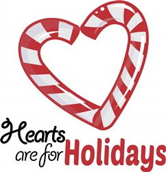 Holiday Hearts print art