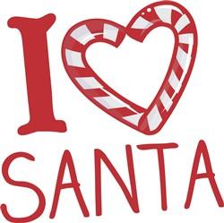 I Love Santa print art
