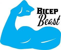 Bicep Beast print art