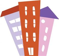 Apartment Buildings print art