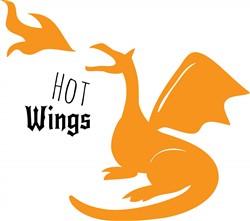 Hot Wings print art