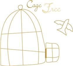 Cage Free print art
