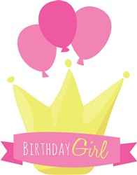 Girls Birthday Banner print art
