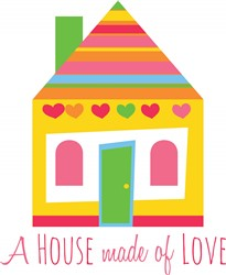House Made Of Love print art