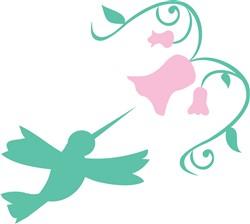 Hummingbird Flower print art