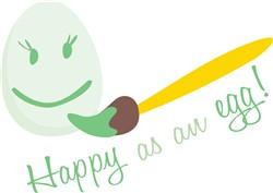 Happy As An Egg print art