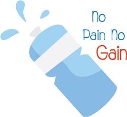No Pain No Gain print art