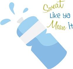 Water Bottle print art