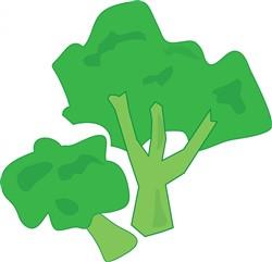 Broccoli print art
