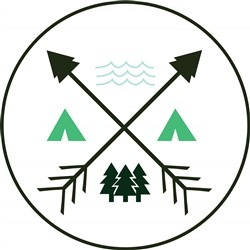 Camping Patch print art