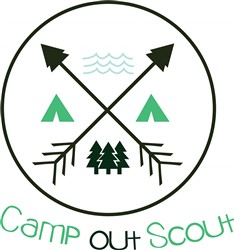 Camp Out Scout print art