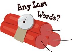 Last Words print art