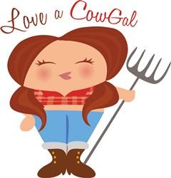 CowGal print art
