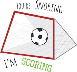 Snoring Scoring print art