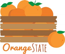 Orange State print art