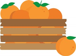 Orange Crate print art