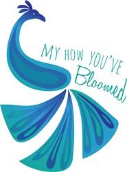 Bloomed Peacock print art
