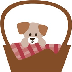 Puppy Basket print art